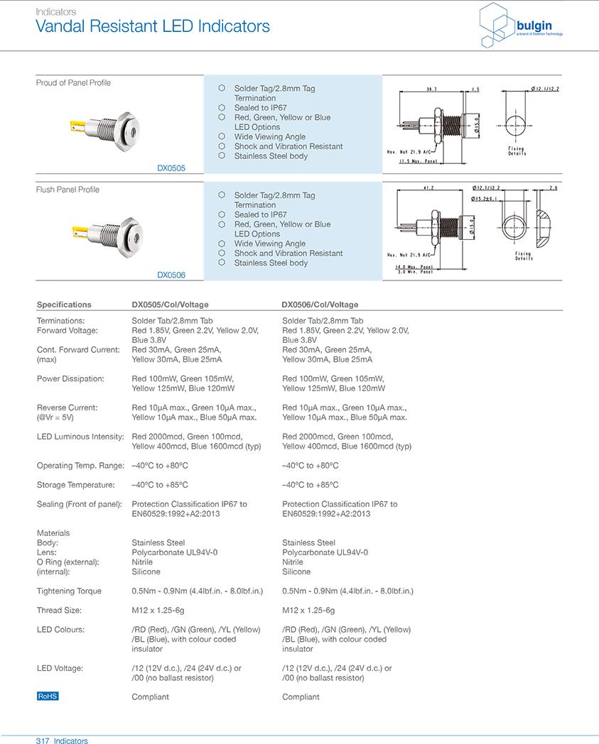 不锈钢防破坏LED指示灯