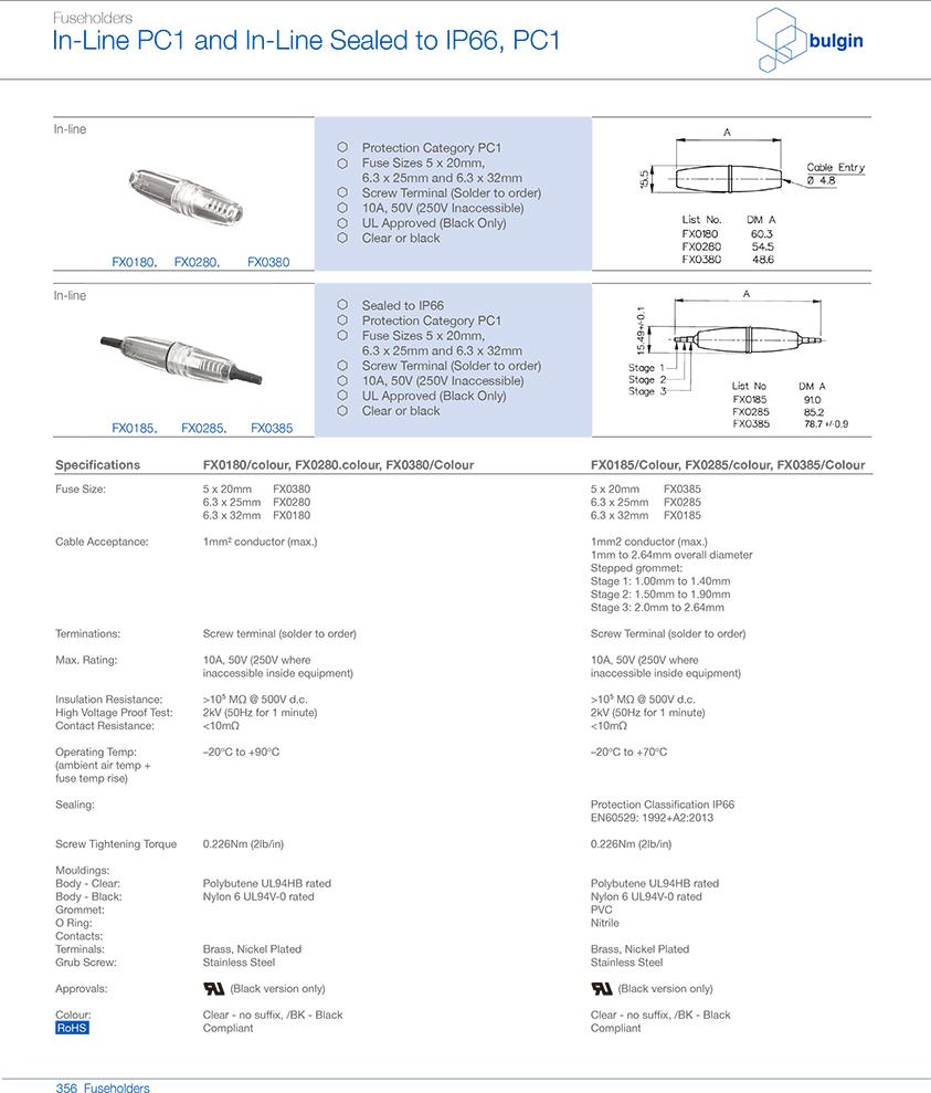 FX0380螺旋式端接保险丝座型号