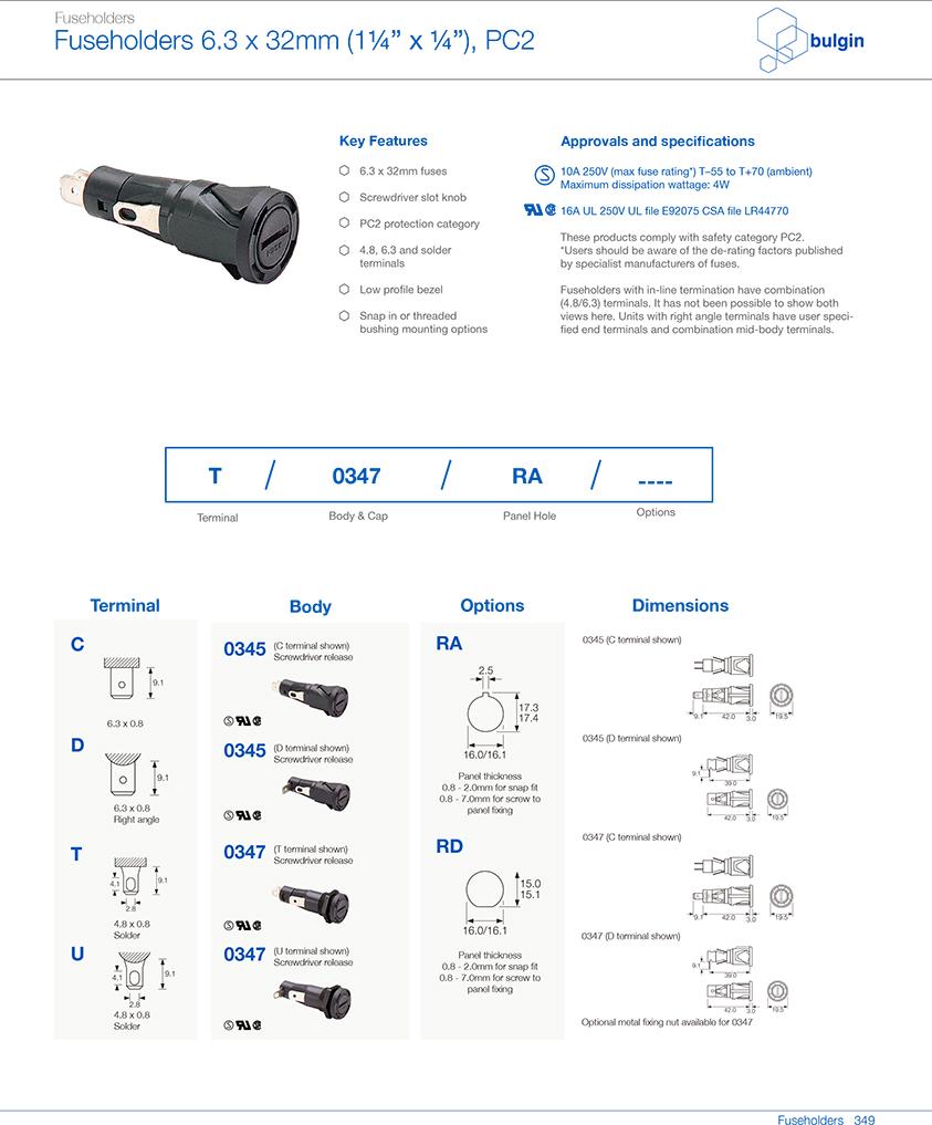 防触电保护类别0345保险丝座选型