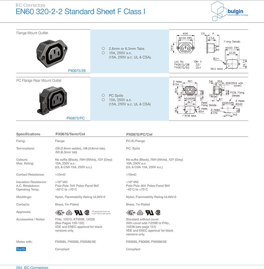 法兰安装插座 PX0675选型